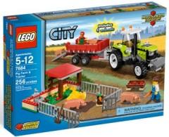 Lego City 7684 Pig Farm and Tractor (Свиноферма и Трактор) 2010.