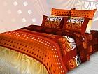 Комплект постельного белья «Яркая абстракция» (арт. 3687/1,  2-спальный, бязь, 2 наволочки 70х70) оранжевый