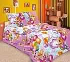 """Комплект постельного белья """"Сюрприз"""" (арт.19255/3, 1,5-спальный, бязь, 2 наволочки 70х70), цвет розовый"""