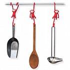 Кухонные крючки «Just hanging» (3 шт), красные