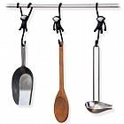 Кухонные крючки «Just hanging» (3 шт), черные